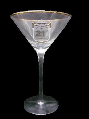 Happy 21st birthday Cocktail Glass