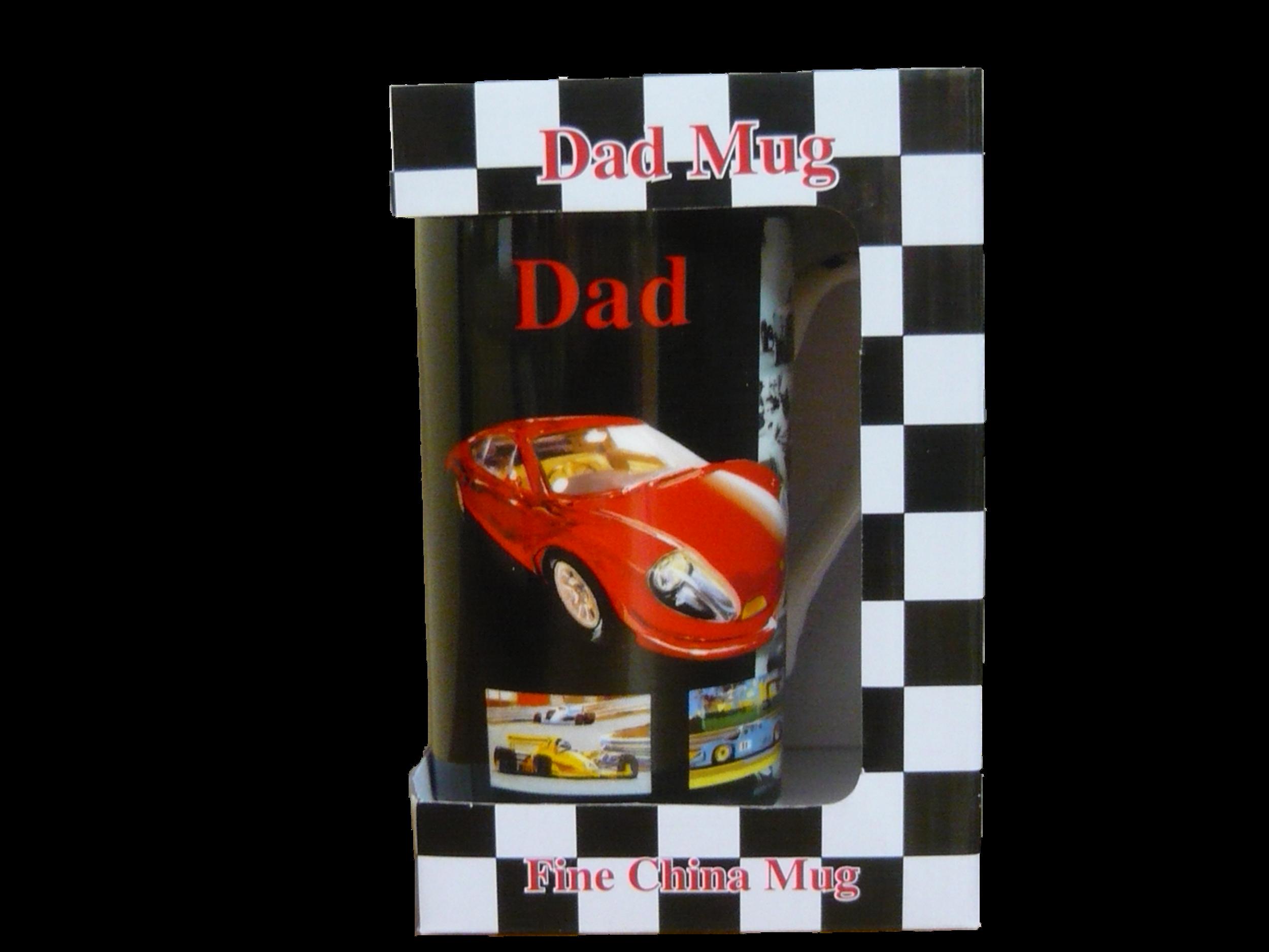 Dad Mug (Red and Black)