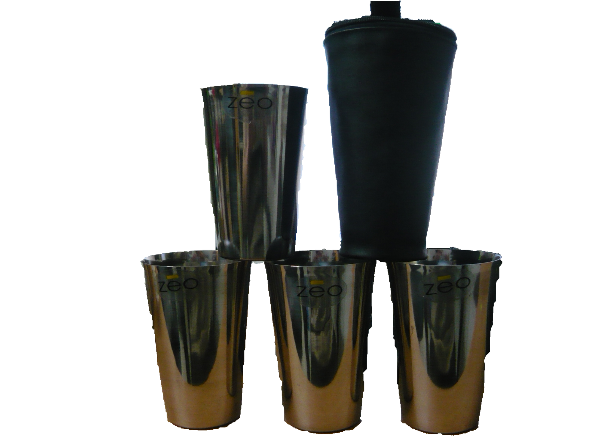 4 Piece Stainless Steel Cup And Case