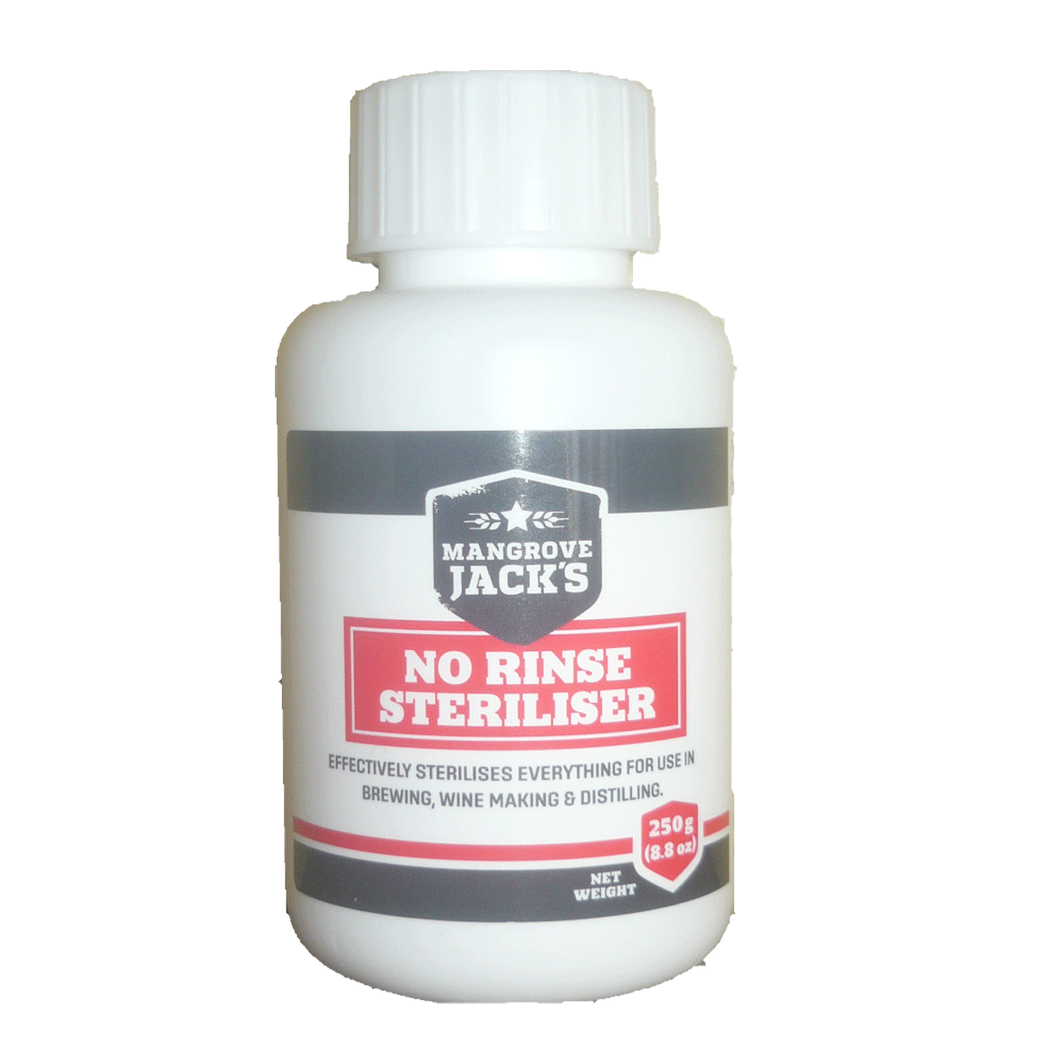 No rinse sterilizer - Mangrove Jacks 250g Bottle