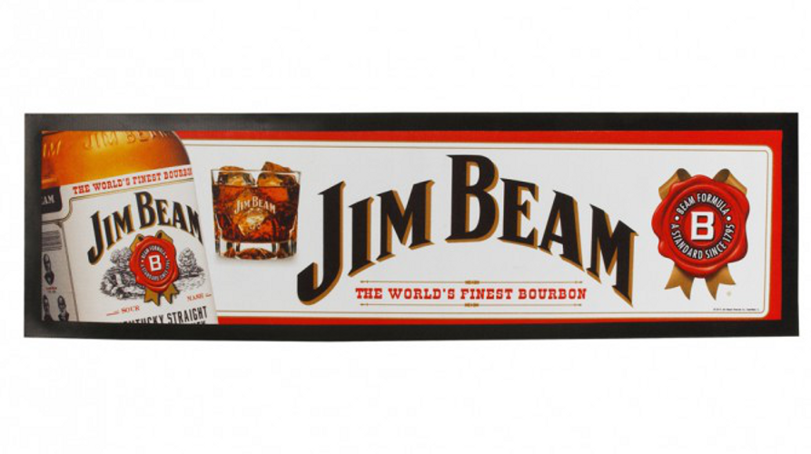 Jim Beam Rubber Back Bar Runner