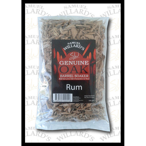 Willards Genuine Oak Barrel Soakers Rum 100gr