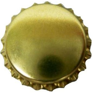 Bottle Caps Gold 100