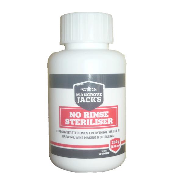 No rinse sterilizer - Mangrove Jacks 250g Bottle